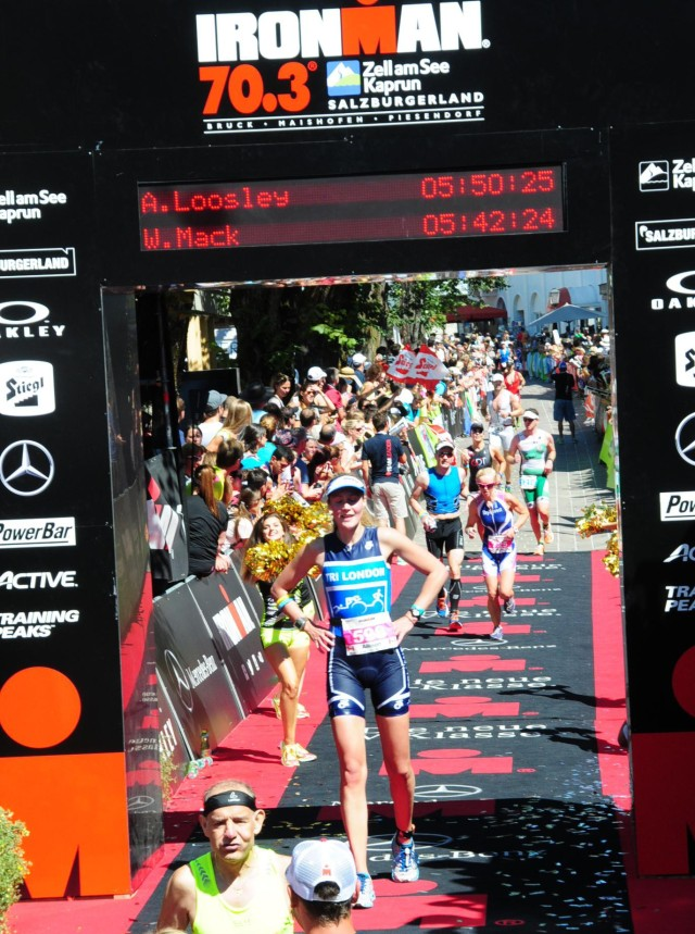 Finish Line - Half Ironman - Allison Loosley